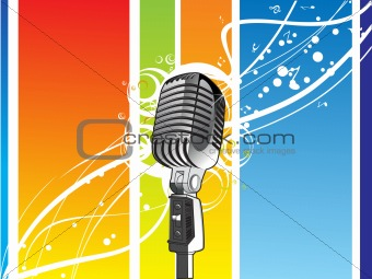 abstract vector background with mirophone