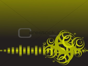 abstract vector background with musical beats