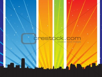 abstract vector city background