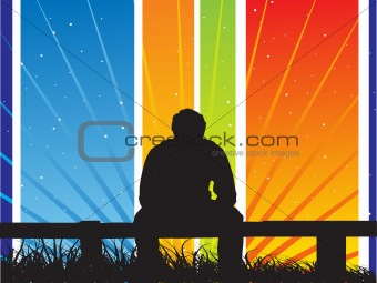 abstract vector silhouette background