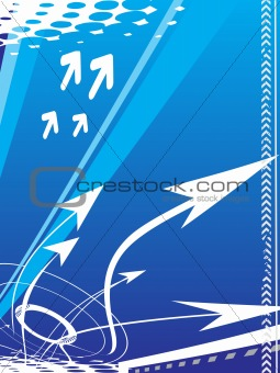 arrow background- vector illustration