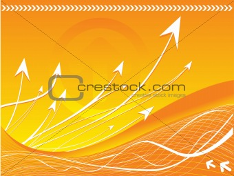Arrows on vector background