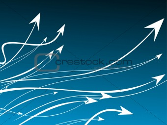 Business leader concept blue background