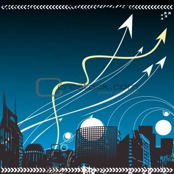 Business leader concept vector background