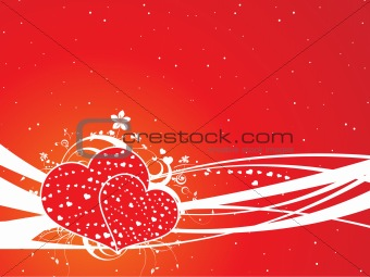 floral valentine's background
