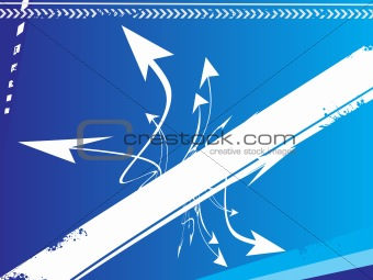 grunge arrow background- vector illustration