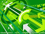 Hi-tech vector background arrow series