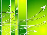 several arrows flow toward