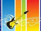 vector guitar on abstract background