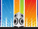 vector speaker abstract musical background
