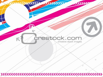 arrow sign on abstract pattern background