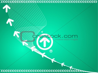 arrows on wavy vector background
