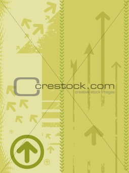 grunge vector arrow background