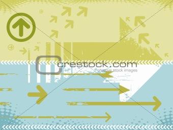grunge vector arrow business background