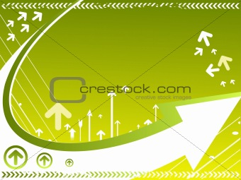 vector background with many arrows