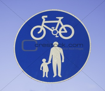 cyclists and pedestrians only
