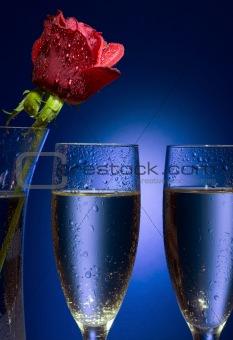 Valentine champaigne glasses