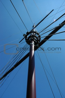 Old wooden ships Mast