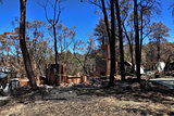 After Bushfires homes razed