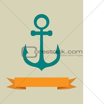 Anchor icon. Vector illustration