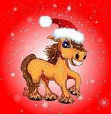 Festive funny horse.