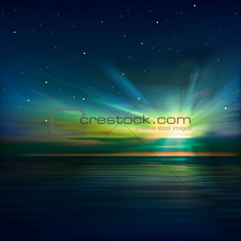 abstract background with clouds and sunrise