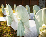 Wedding decoration in garden.