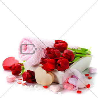 Bath and spa Valentine theme