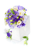 Beautiful eustoma flowers  bouquet