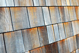 wood tiled roof shingles