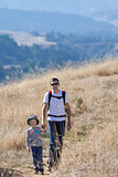 family hiking