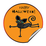 cat halloween sticker