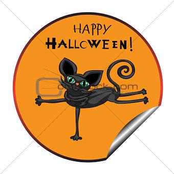 cat halloween sticker
