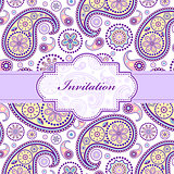 colorful floral invitation card