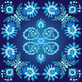 blue ottoman serial patterns five