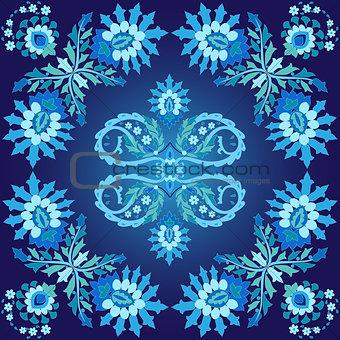 blue ottoman serial patterns five