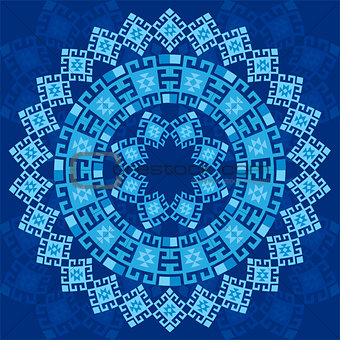 blue ottoman serial patterns four