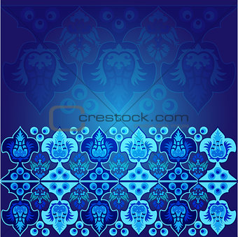 blue ottoman serial patterns nine