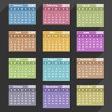 Flat 2014 Calendar