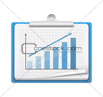 Clipboard with Bar Graph