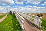 long white bridge over river, Alkmaar
