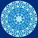 blue ottoman serial patterns one