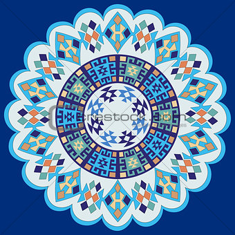 blue ottoman serial patterns seven