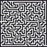 labyrinth on white background