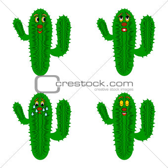 Funny cartoon cacti