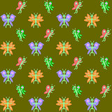 Design seamless butterflies pattern
