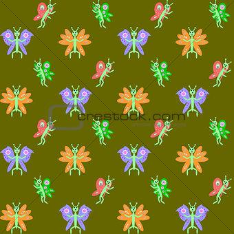 Design seamless butterflies pattern