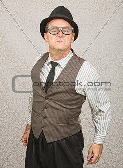 Bragging Man in Eyeglasses