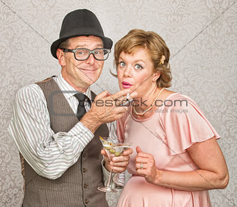 Pregnant Couple Smoking and Drinking