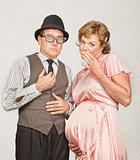 Coy Pregnant Couple